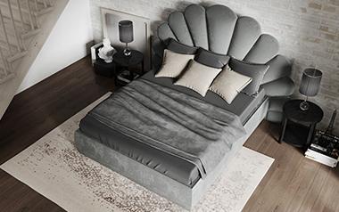 Кровать Лагуна (с подъём. механизмом), 160х200 фото